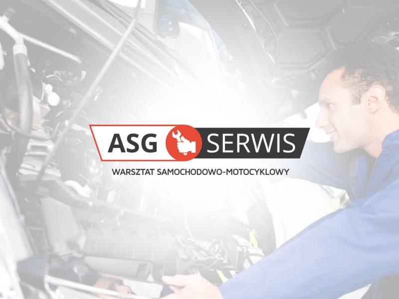 Logo oraz szyld ASG Serwis