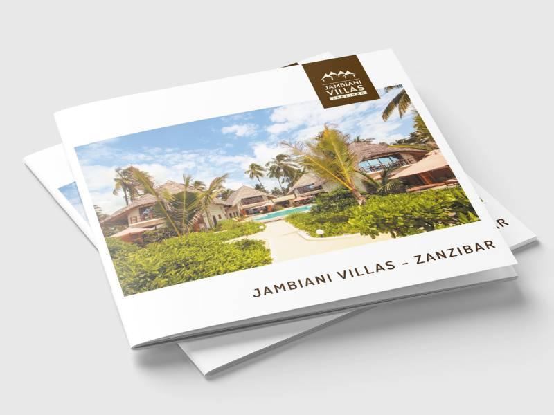 Broszury 21×21 dla Jambiani-Villas